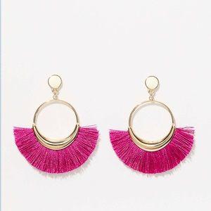 Ann Taylor Loft Pink Fringe Earrings